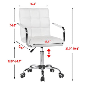 Office Desk Chairs with Wheels/Armrests