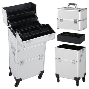 Aluminum 3 in 1 Makeup Trolley