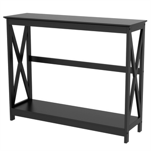 2-Tier X-Design Console Table