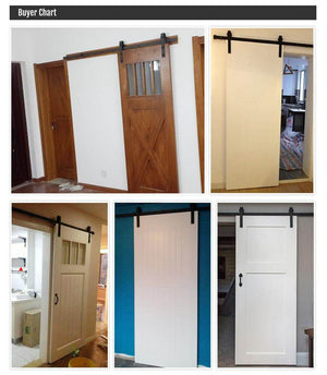 6.6Ft Barn Door Sliding Hardware