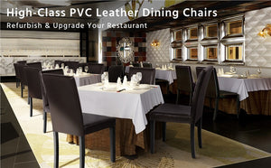 Yaheetech Dining Chairs Brown 4pcs