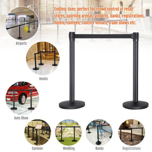 Belt Queue Stanchion Set of 2 Posts