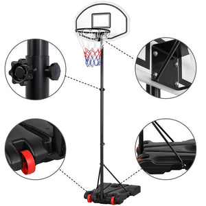 Height-Adjustable Basketball Hoop System