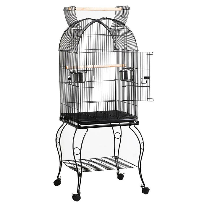 Rolling Standing Medium Dome Bird Cage 59-inch