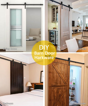 6Ft Barn Door Sliding Hardware
