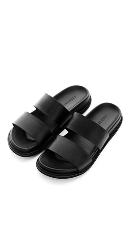 WOMENS LEATHER SLIDE
