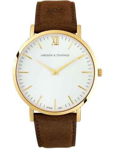 LUGANO 40MM BROWN / GOLD