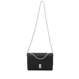 THE 7TH LEATHER SHOULDER BAG SILVER
