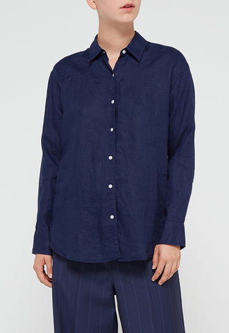 KIPPER SHIRT AGEAN BLUE