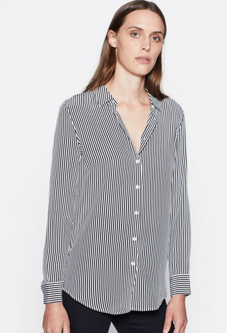 ESSENTIAL STRIPED SILK SHIRT