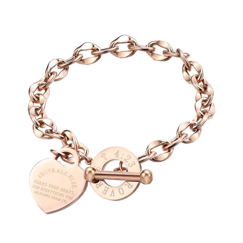 Proverbs 4:23 - Above all else guard your heart - bracelet