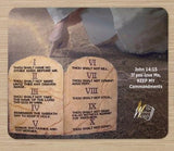 The Ten Commandments & John 14:15 picture on premium mouse pad - thewrittenword