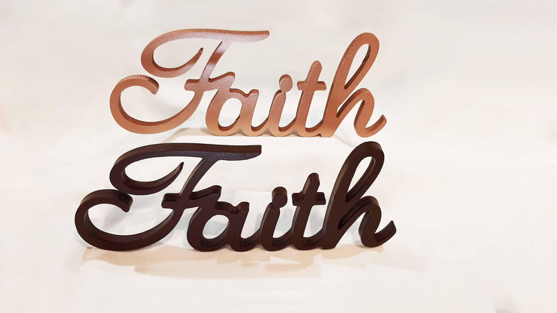 Faith Wooden Word Freestanding and Wall Mountable