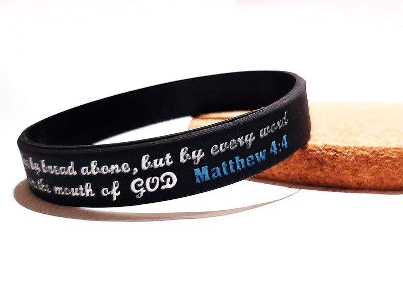 Matthew 4:4 - The Word bracelet