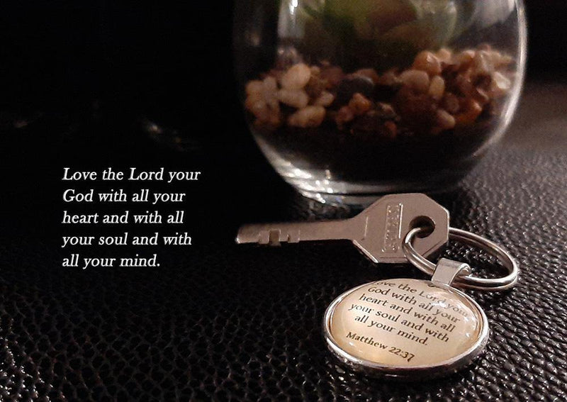 Matthew 22:37 - Love the LORD key ring
