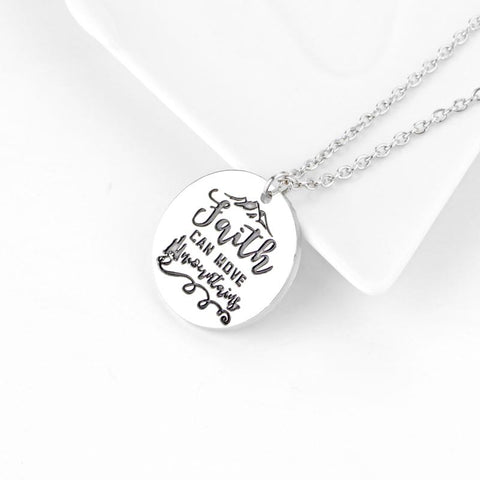 Faith Can Move Mountains Pendant Necklace - thewrittenword