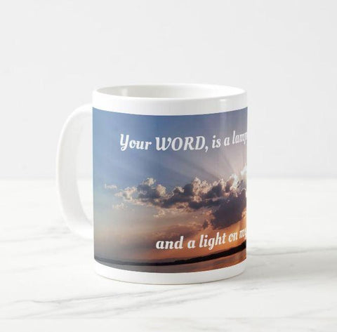 Psalm 119:105 picture on 11 oz mug - thewrittenword
