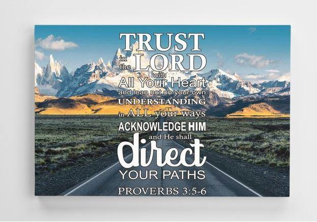 Proverbs 3:5-6 Trust in the LORD Canvas