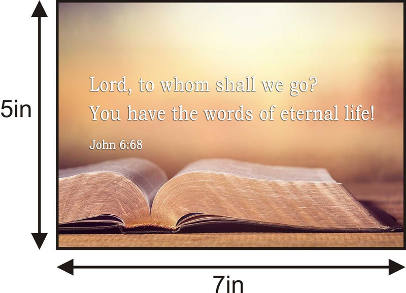 John 6:68 - Lord, to whom shall we go? You have the words of eternal life.aJohn 6:68 - Lord, to whom shall we go? You have the words of eternal life. Picture frame