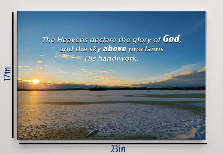 "Psalm 19:1 ""The heavens declare the glory of God"" Canvas Print 23"" x 17"""