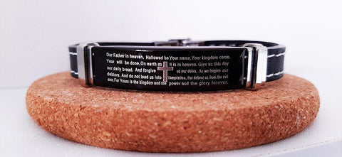 The LORD's prayer leather bracelet