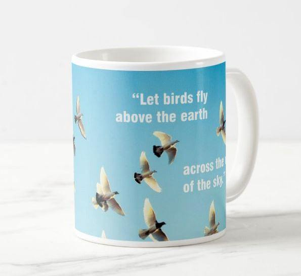 Genesis 1:20 - And God said Let birds fly above the earth across the vault of the sky. Mug