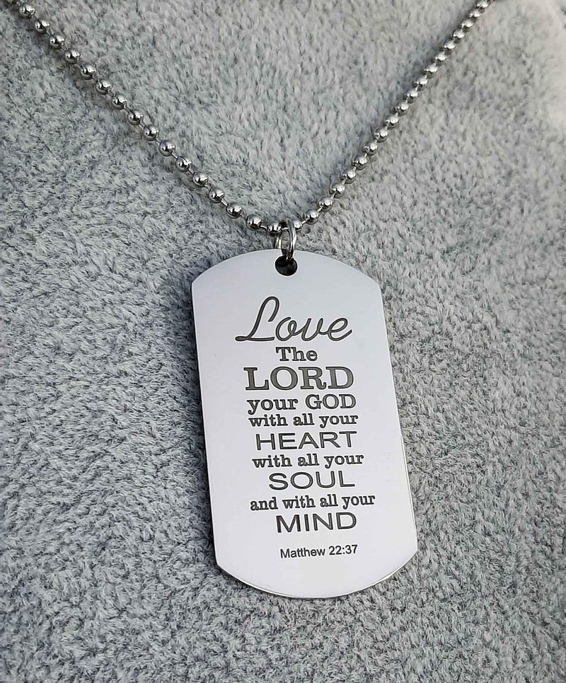 Matthew 22:37 Love the Lord Pendant/necklace