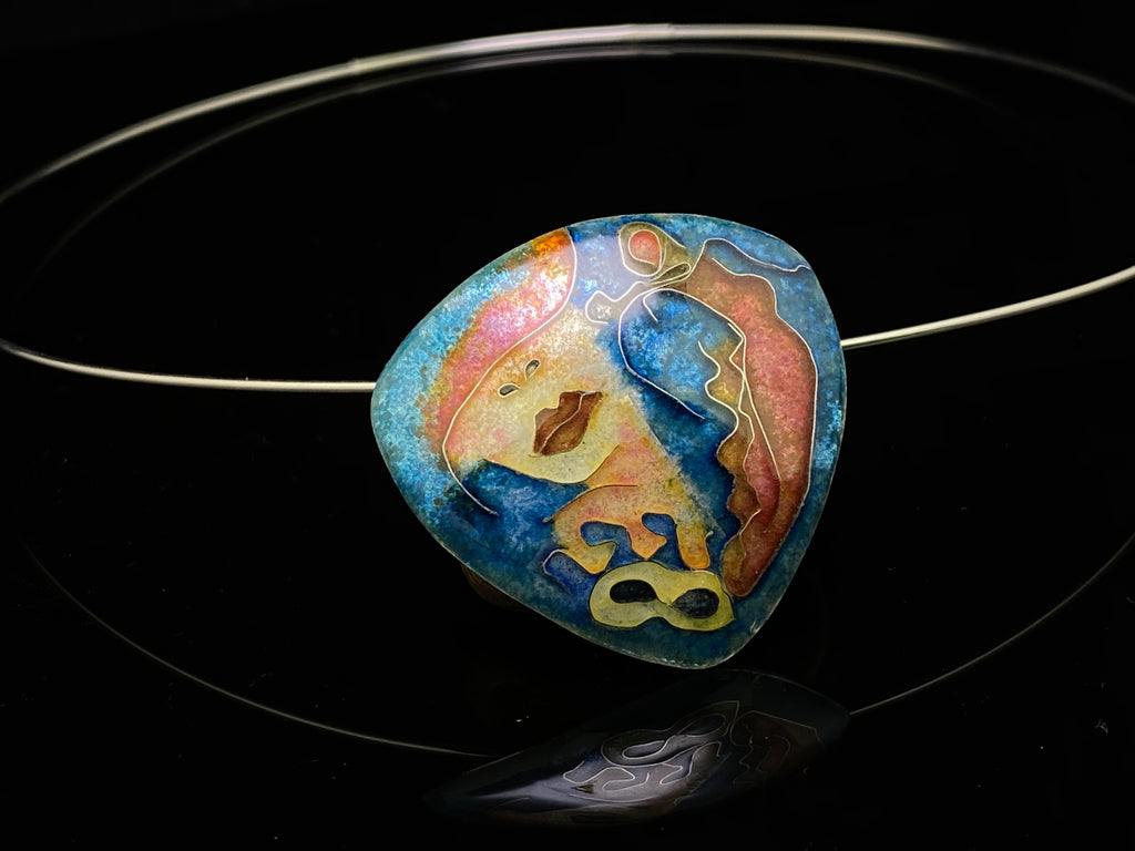 Going to the Gala, Cloisonné Enamel Pendant