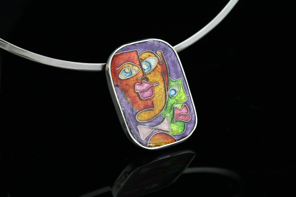 The Guys, Cloisonné Enamel Pendant