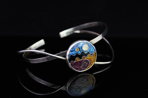Cloisonné Enamel Bracelet, Abstract Collection