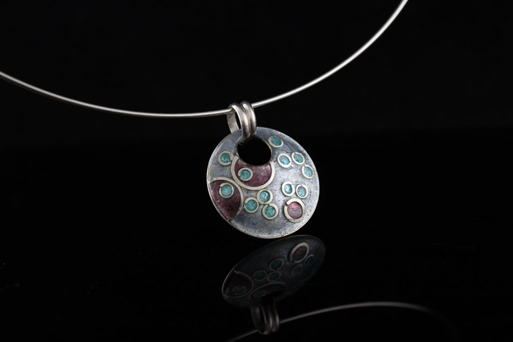 Cloisonne enamel jewelry by Tonya Butcher