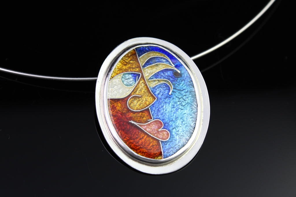 One of the Guys, Cloisonné Enamel Pendant
