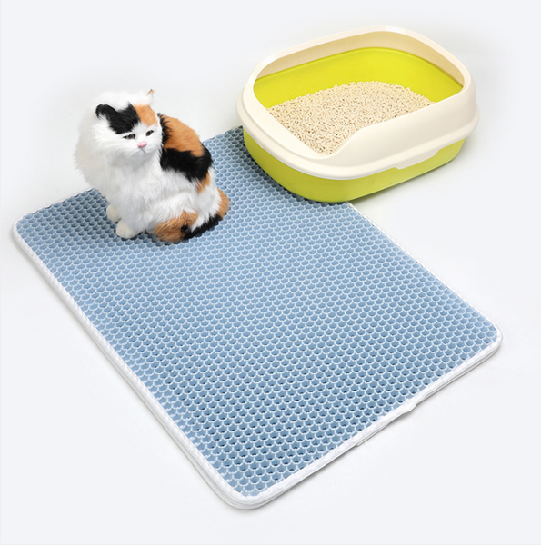 Cat litter mat, pet supplies EVA double layer cat litter mat, litter box cleaning mat