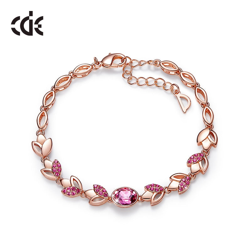 Rose Gold Bracelet Jewelry Embellished with Crystals from Swarovski
