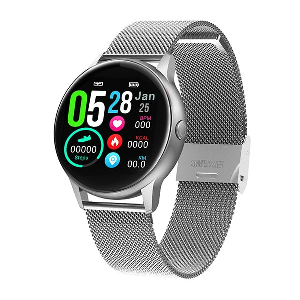 Fitness Smart Watch, Women's & Men's Smartwatch, Heart Rate, Blood Pressure Monitor, IP68 Waterproof Device for Android & IOS