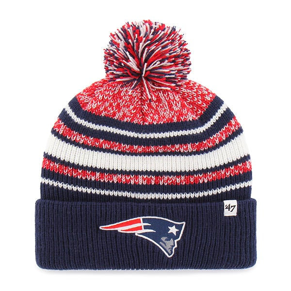 '47 Sports New England Patriots Youth Navy Bubbler Cuff Knit Hat