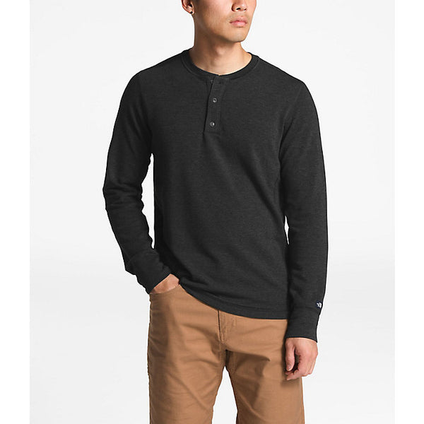 The NorthFace Men's Terry Henley Long Sleeve 3 Button