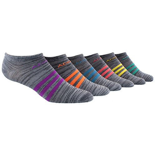 Adidas Girls No Show Superlite Socks 6 Pack