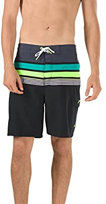 Speedo Nautical Tape e-Board Shorts-Men's Workout & Swim Trunks