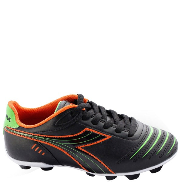 Youth Diadora Cattura Soccer Cleat Black/Orange/Lime
