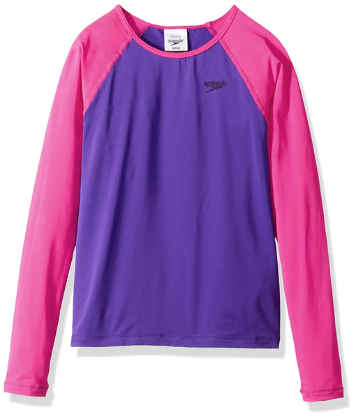Speedo Girls Long Sleeve Rashguard