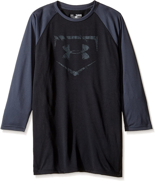 Under Armour Boys 3/4 sleeve Baseball Tee