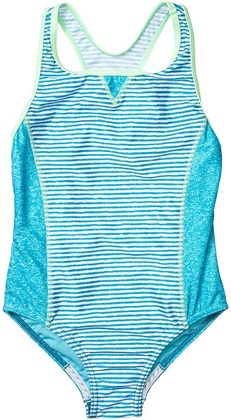 Speedo Kids Girl's Print Blocked One-Piece