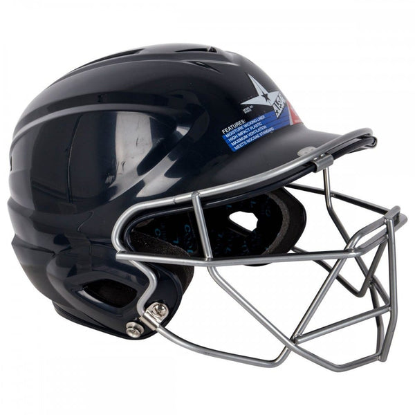 All Star BH3000FG2 Fastpitch Softball Batting Helmet w/Face Guard