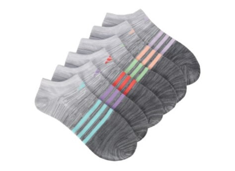 WOMEN'S ADIDAS 6 PACK SUPERLITE NO SHOW SOCKS