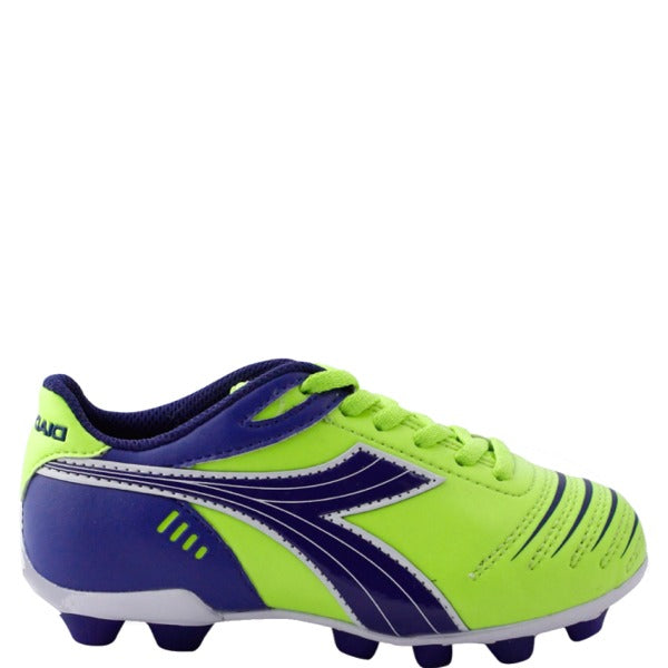 Youth Diadora Cattura Soccer Cleat Lime Green/ Royal