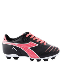 Youth Diadora Cattura Soccer Cleat Black/Pink