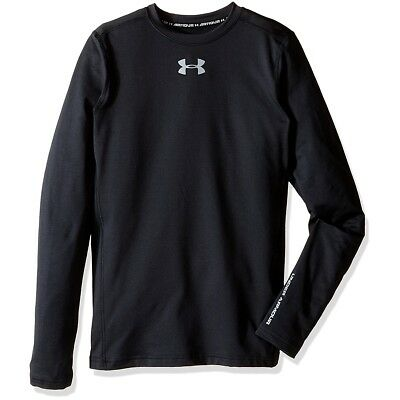 Under Armour Boys' ColdGear Compression Long Sleeve Crew Shirt