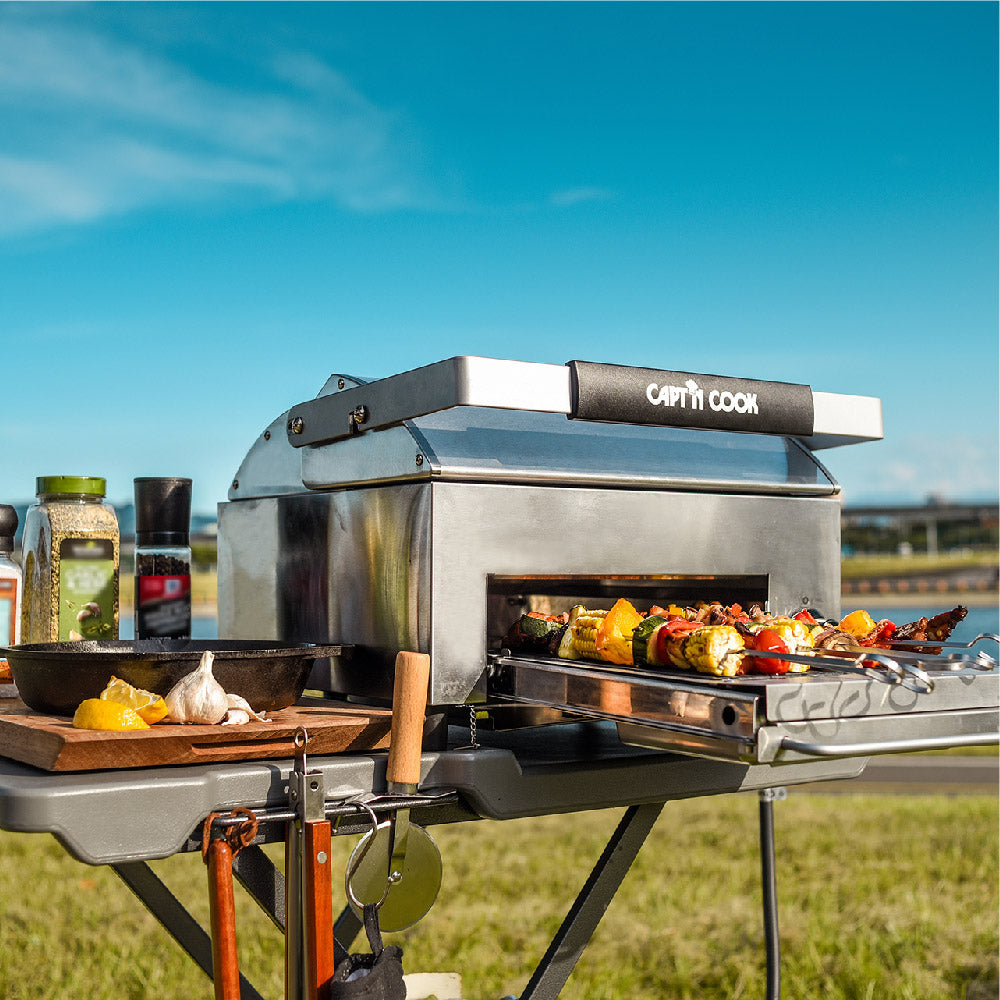 OvenPlus Mobile Kitchen Set (Ovenplus Salamander Grill w/ Foldable Master Cart)