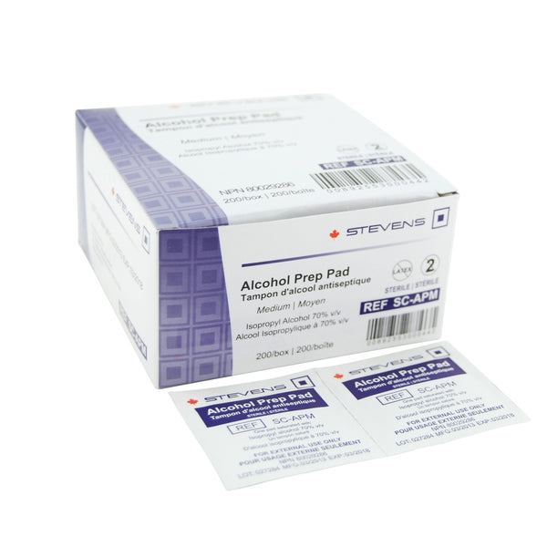 Stevens Alcohol Prep Pads - Medium/200 per box - Healthcare Shops
